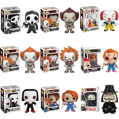 Pop Figure Scary Horror Movie It/Child's Play/Saw/Scream/V for Vendetta