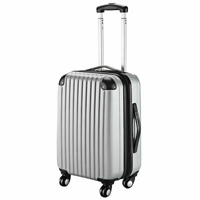 """GLOBALWAY 20"""" Gray ABS Carry On Luggage Travel Bag Trolley Suitcase Expandable"""