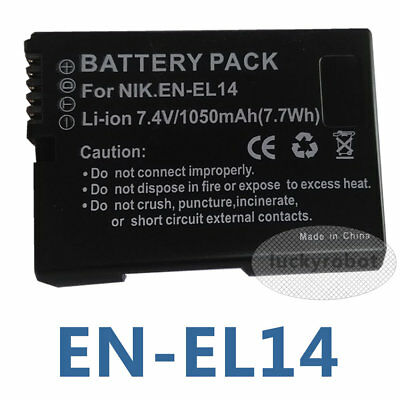 New Rechargeable EN-EL14A Battery FOR Nikon P7700 P7000 P7100 D3100 D3200 D5100