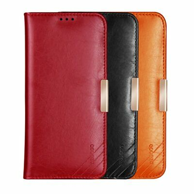 DZGOGO Royale II Calf Leather Wallet Case Cover for Samsung Galaxy S9 / S9+ Plus