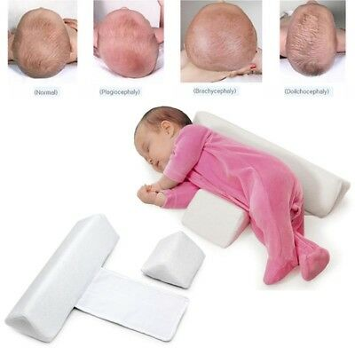 Baby Anti Roll Sleep Pillow Wedge Infant Head Support Pillow Anti Flat Head