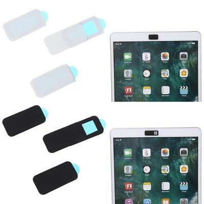 3Pc WebCam Cover Shutter Slider Camera Cover for iPhone iPad Laptops Phone Black
