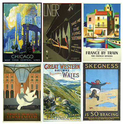 Vintage Railway / Travel Posters Wall Art Prints A4 / A3