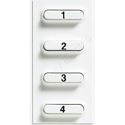 Bticino 4 Pushbuttons Pivot Accessory for Intercom Handset - 346812 - From £11.6