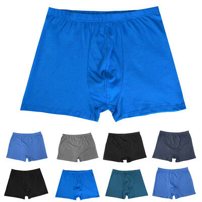 New Men Cotton Loose High Waist Boxer Briefs Underwear Shorts Underpants L-8XL