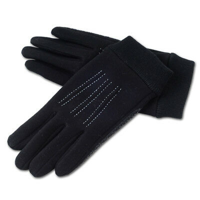 MIMOSA Winter Men Full Finger Touch Screen Cycling Gloves Fashion Warm Black Glo