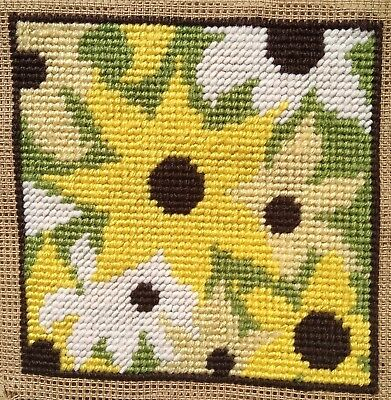 Modern Mini Tapestry: Unique Handmade 'Sunflowers' Sampler
