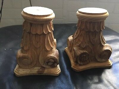 Column Capitals In Solid Pine