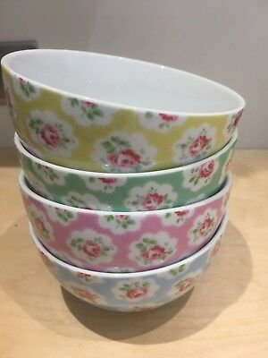 Cath Kidston Provence Rose 🌹 Set Of 4 Bowls - used for display only