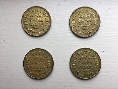 Putt Putt Plus Golf & Games Arcade Tokens, Set of Four, 1981