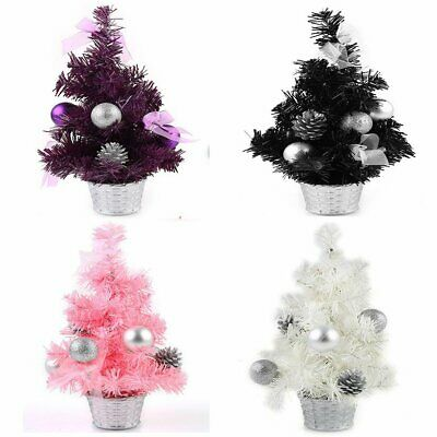 """Pretty 12"""" Mini Table Top or Home Decorate Christmas Tree Ornament Gift 4Colors"""