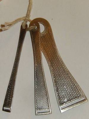 Antique Victorian Sewing Lot 3 Sterling Silver Bobkin Ribbon Threaders