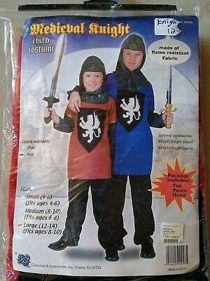 N NEW Child RG Costumes Medieval Knight Halloween Costume Size L