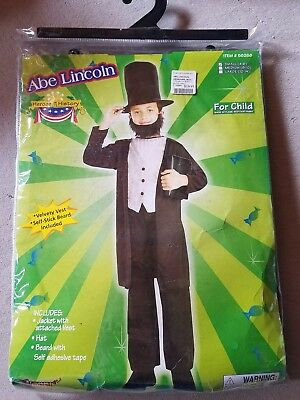 O NEW Child Forum Abe Lincoln Halloween Costume S