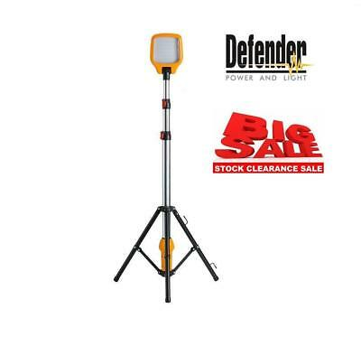 Defender LED Task Light Telescopic Tripod 240v Work Site Lighting SALE