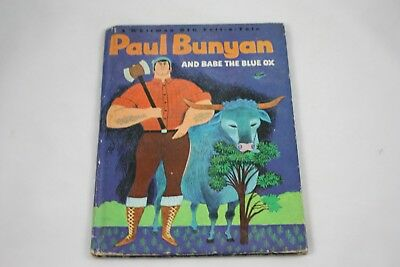 Paul Bunyan And Babe The Blue Ox by Daphne Hogstrom Signed 1967 Whitman 2408