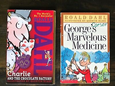 Charlie and the Chocolate Factory & George's Marvelous Medicine 2 by Roald Dahl