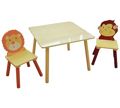 Animal Safari Themed Jungle Kids Table And Chairs Set Animals Playroom Bedroom