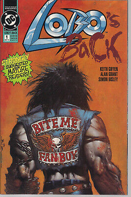 Lobo's Back 1 VF DC Comics 1992 Limited Series HTF Simon Bisley art