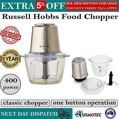 Electric Food Chopper Processor Fruit and Vegetable Dicer Slicer Russell Hobbs