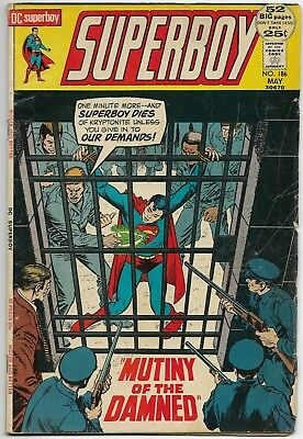 SUPERBOY #186 - MUTINY OF THE DAMNED DC Comics 1972
