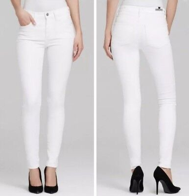 28055ef55a4bd Citizens of Humanity Rocket Crop High Rise Skinny Jeans Optic White Denim  sz 28