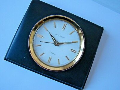 Vintage LE TANNEUR Alarm Clock, SWISS made, Mechanical, 1960 years, beautiful.