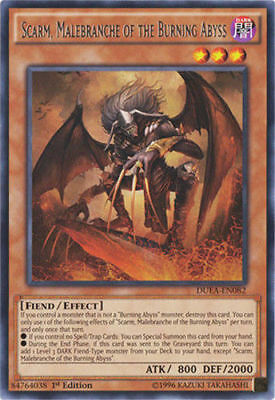 Scarm, Malebranche of the Burning Abyss (DUEA-EN082) - Rare - 1st Edition