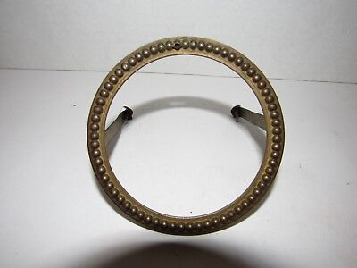 "Antique French Mantel Clock Bezel (3-3/4"" Round, Fit Opening is 3.5"")"