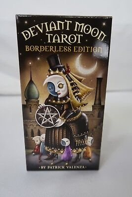 Deviant Moon Tarot Borderless Edition Deck by Patrick Valenza With Book