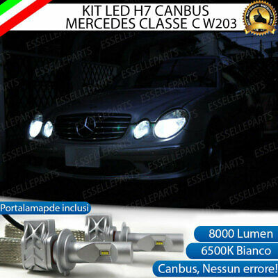 Kit Led H7 Canbus Mercedes Classe C W203 Con Led Lumiled Luxeon Zes 8000 Lumen