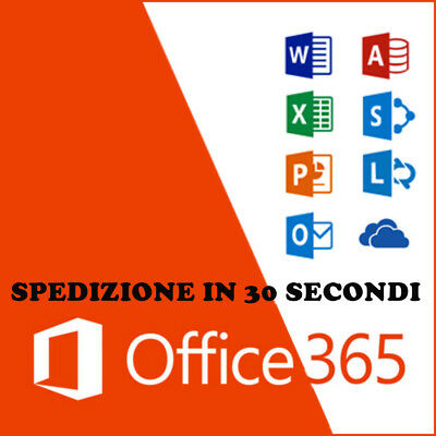 Microsoft Office 365 Pro Plus2016/a vita /5 Dispositivi/1TB OneDrive-Multilingua