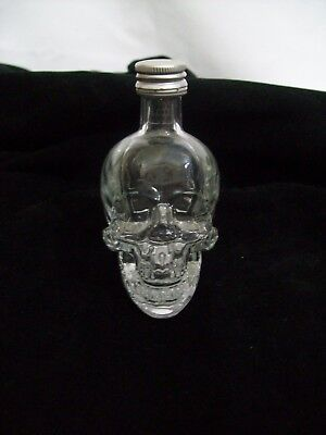 Crystal Head Vodka Clear Glass Skull Bottle 50ml with Lid Empty