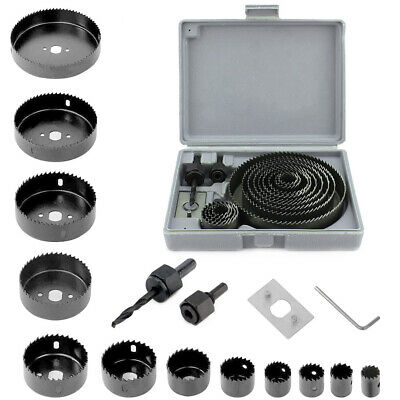 16pc SAW KIT SET 19-127mm Hole Saw Cutter Set Durable for Metal Plastic woodwork