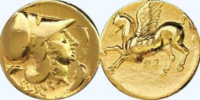 Athena & Pegasus Greek Coin Greek Mythology Goddess of Widom Winged Horse (2-G)