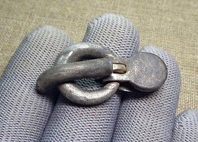 Interesting Ancient Roman SILVER  Buckle 1st-3rd Century AD #342