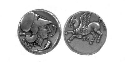 Athena & Pegasus Greek Coin Greek Mythology Goddess of Widom Winged Horse (2-S)