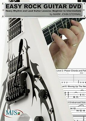 EASY ROCK GUITAR Rhythm and Lead Guitar Lessons: Beginner to Intermediate Level