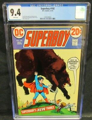 Superboy #192 (1972) Nick Cardy Cover CGC 9.4 White Pages X565