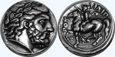 Zeus King of the Gods Ruler of Mount Olympus Greek coin Greek Mythology (4-S)