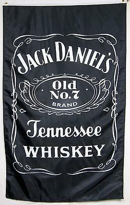 Jack Daniel's Old No 7 Sour Mash Whiskey Flag 3' X 5' Vertical Banner Bar Cave