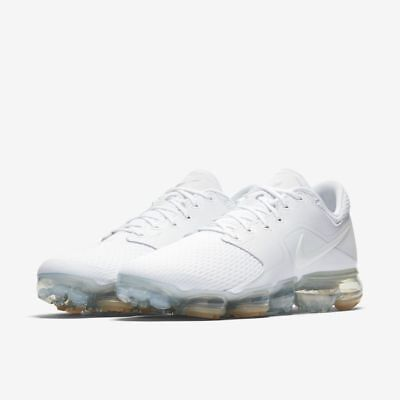 46fa9db88d5bd7 Nike Air VaporMax Men Running Shoes Mens New White SIlver Sneakers  AH9046-101