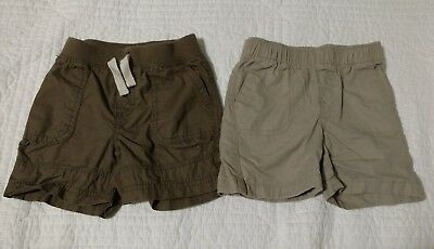 Lot of 2 Boy Shorts Tan and Brown Size 12 Months Toddlers