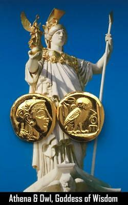 Athena and Owl, Greek Coin, Percy Jackson Teen Gift, Annabeth's Mother (PJ12-G)
