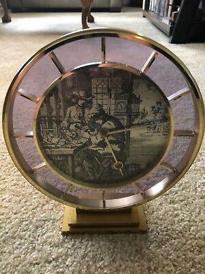 Kienzle Shelf Mantel Clock Made in Germany Brass Base
