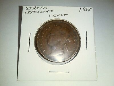 Queen Victoria 1 cents coin1888 Straights Settlements