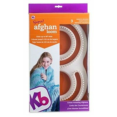 Authentic Knitting Board Afghan Loom - Kb Shape Knits Wide Super