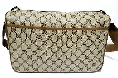 fcf4c0a63 Authentic Vintage GUCCI Crossbody Messenger Shoulder Bag Purse Handbag GG  Logo