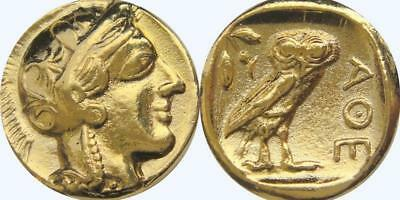 Athena and Owl Greek Coin Annabeth's Mother Precy Jackson Teen Gift (PJ77-G)