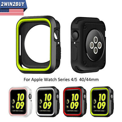 Sports Rubber Bumper Case Rugged Frame Fr Apple Watch Series 4 40/44mm Protector